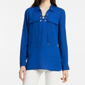 Calvin Klein modern lace-up blouse